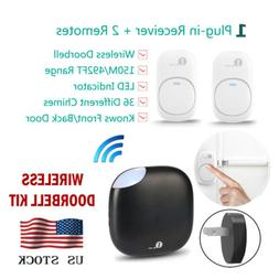 1Byone 150M LED 36 Chimes Wireless Doorbell Remote Plug-in R