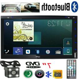 """2DIN Car Stereo CD DVD Receiver 7"""" Touchscreen Audio Video M"""