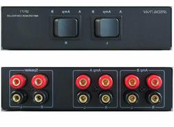 2 Two Amplifiers Receivers to 1 Pair Speakers Selector Switc