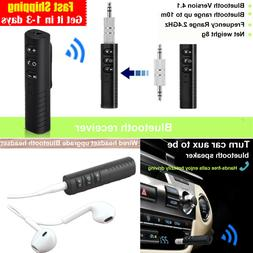 3.5mm Jack Wireless bluetooth Receiver Audio Adapter car AUX