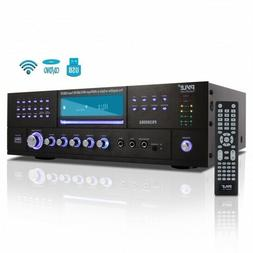 Pyle Bluetooth 4.1 Channel 3000W AM/FM Stereo Receiver Ampli