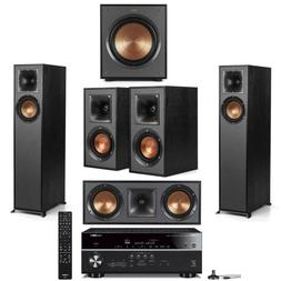 Klipsch 5 Speaker Theater System with Yamaha RX-V685 7.2 Cha