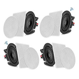 """Pyle 6.5"""" 4 Bluetooth Flush Mount In-wall In-ceiling 2-Way"""