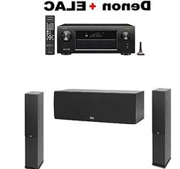 Denon AVR-X3500H 7.2-Channel AV Receiver with HEOS + Pair of