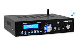 Pyle Bluetooth 200W Stereo Amplifier Compact Amp Receiver FM