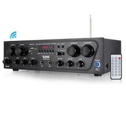 Pyle Bluetooth Home Audio Amplifier, 4-Ch. Audio Source Ster