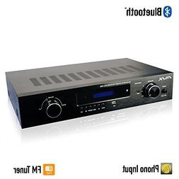 Bluetooth Stereo Receiver w/Phono Input, Subwoofer Output an