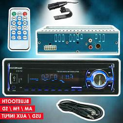 Car Stereo Audio Radio Receiver w/ Bluetooth In-Dash FM SD U