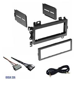 ASC Car Stereo Dash Install Mount Kit and Wire Harness Combo