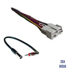 ASC Audio Car Stereo Wire Harness and Antenna Adapter to Aft