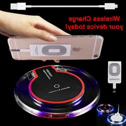 New Qi Wireless Fast Charger Dock Charging Pad Receiver For