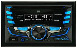 Double DIN Car Stereo Receiver with Built-In Bluetooth, CD,U