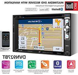 "Dual DVN927BT In-Dash 6.2"" DVD/CD Player w/ Navigation & Blu"