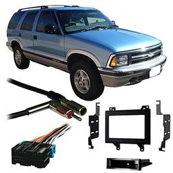 Fits Chevy S-10 Blazer 95-97 Double DIN Stereo Harness Radio