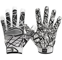Cutters Gloves S150 Game Day Receiver Gloves, White, Large