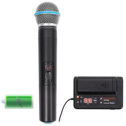 Rockville Handheld Battery Powered UHF Wireless Microphone+R