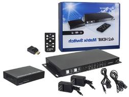 Monoprice HDBaseT 4 by 2 HDMI Matrix Switch and Receiver