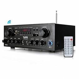 Pyle Home Pta24bt Compact Bluetooth Audio Stereo Receiver Wi