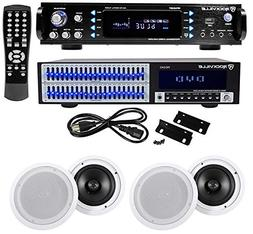 """Rockville Home Theater Bluetooth Receiver+Equalizer EQ+ 8"""" C"""