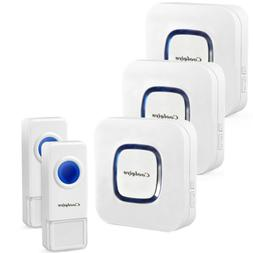 Home Wireless Doorbell Portable Remote Button Chimes Receive