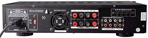 4-Channel Audio Amplifier Stereo AM Radio, Headphone, Great for Home Pyle