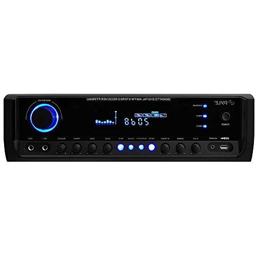Home System - Channel w/ USB, Mic w/ LED, iPhone, PA, - Pyle