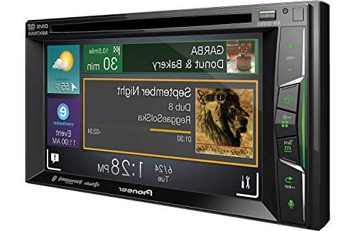 "Pioneer Receiver with 6.2"" WVGA Display/Apple +"