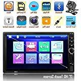 Double Din Car Stereo, Ewalite 7 inches Touch Screen in Dash