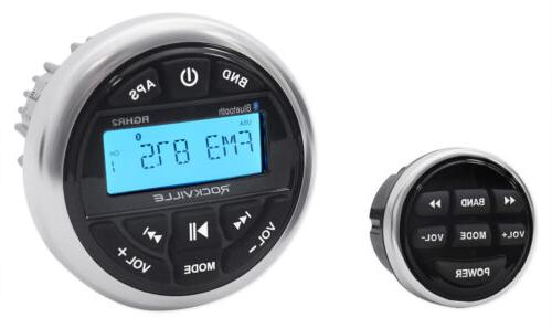 Rockville RGHR2 Marine Gauge Hole Receiver w Bluetooth USB,