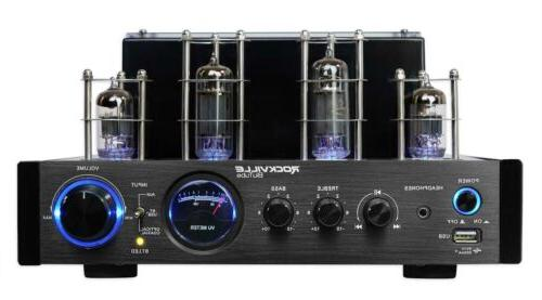 Rockville BluTube LED Bluetooth Tube Amplifier/Home Stereo Receiver in