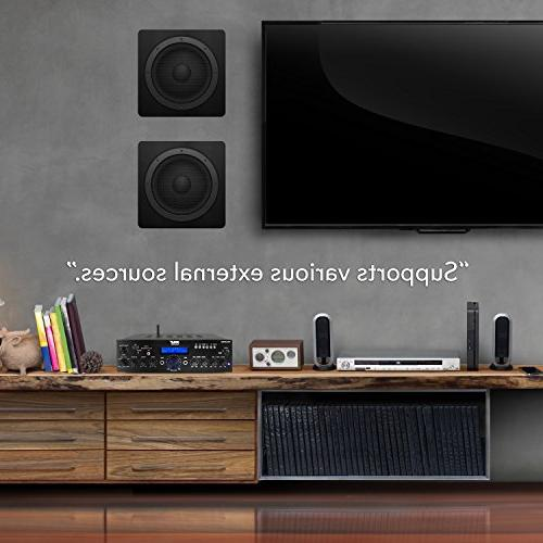 Wireless Bluetooth Power System Dual Channel Receiver USB, Radio Theater Entertainment via Studio Use PDA65BU