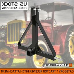 """New 3 Point 2"""" Receiver Trailer Hitch Category 1 Tractor Tow"""