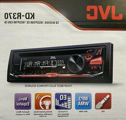 NEW JVC KD-R370 AM/FM/CD Single DIN Car Stereo Receiver w/ A