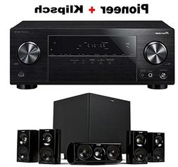 Pioneer Surround Sound A/V Receiver - Black  + Klipsch HDT-6
