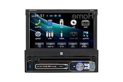 "7"" Single-DIN In-Dash DVD Receiver with Motorized Touchscree"