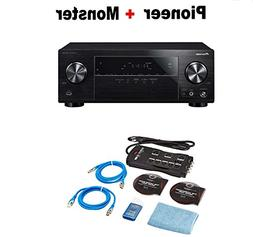 Pioneer Surround Sound A/V Receiver - Black  + Monster Home