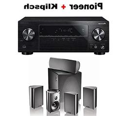 Pioneer Surround Sound A/V Receiver - Black  + Definitive Te