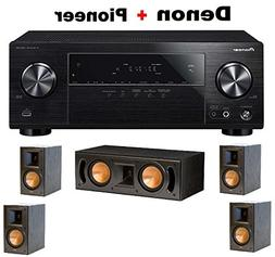Pioneer Surround Sound A/V Receiver - Black  + Pair of Klips