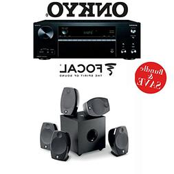 Onkyo TX-NR676 7.2-Channel 4K Network A/V Receiver + Focal S