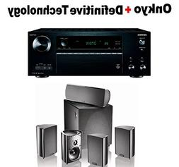 Onkyo TX-NR777 THX-Certified Receiver  + Definitive Technolo