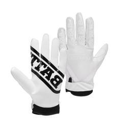 Battle Receivers Ultra-Stick Football Gloves - Large - White