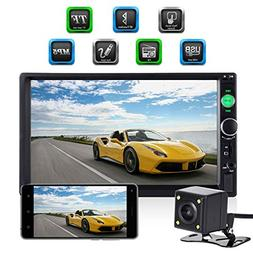 Universal Double Din Car Stereo, ESSGOO Mirror Link 7 Inch T