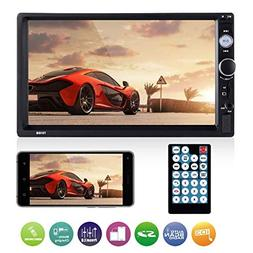 Universal Double Din Car Stereo, ESSGOO Mirror Link 7Inch To