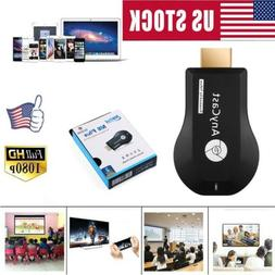 US WiFi Display Dongle Receiver 1080P HD HDMI TV AnyCast Med