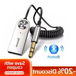 Baseus USB Bluetooth 3.5mm AUX Audio Adapter Cable Car Home