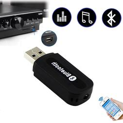 USB Bluetooth Receiver Music Audio Dongle+ 3.5mm AUX to USB