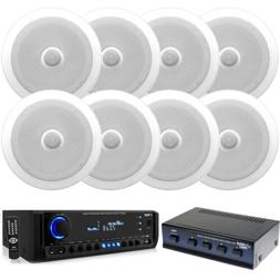 """In-Wall/In-Celing 6.5""""Speakers & Selector, Bluetooth USB AUX"""